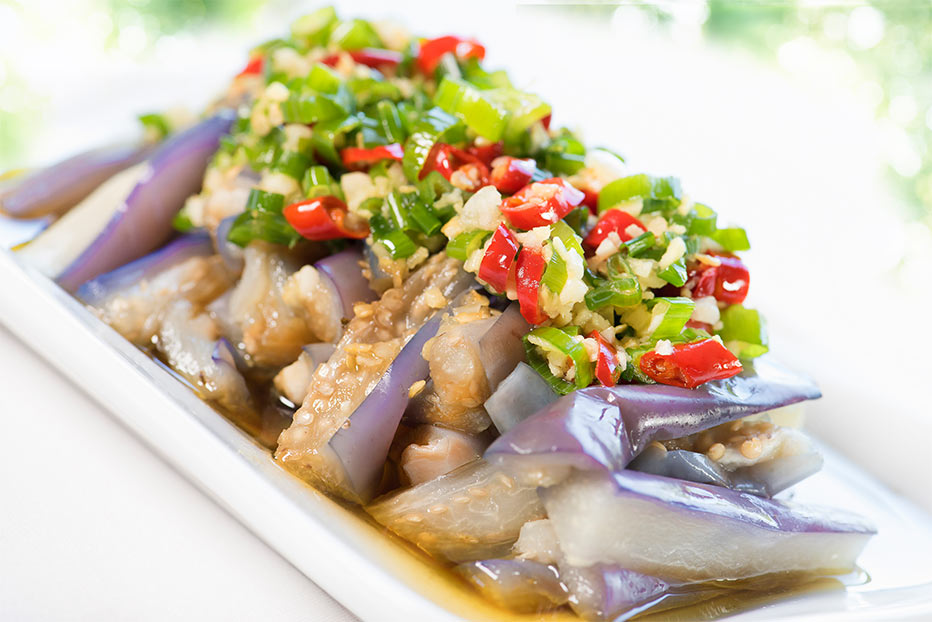 Sichuan-style Steamed Eggplant